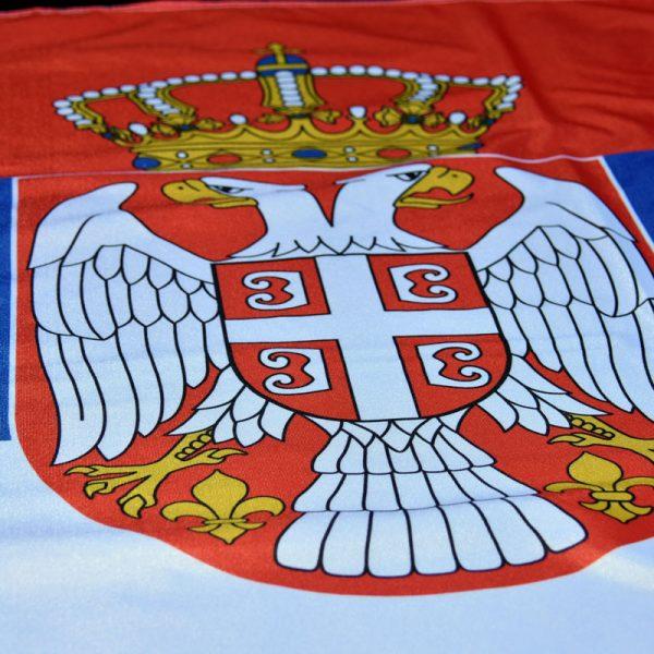 Zastava Srbije, grb, poliester.