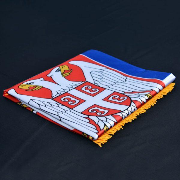 Zastava Srbije krep saten, savijena.