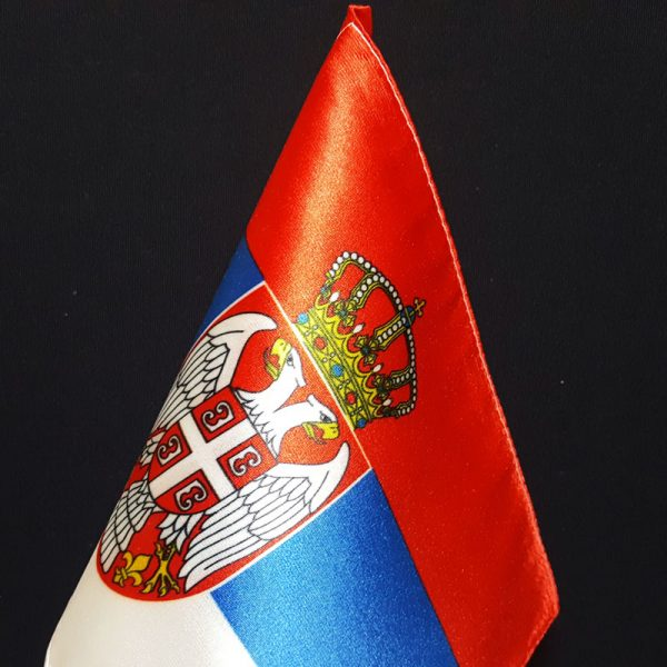 Stona zastava Republike Srbije od krep satena.