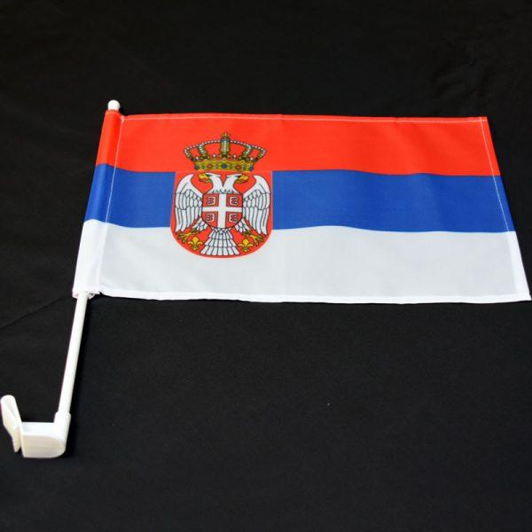Zastavica Srbije sa nosacem za kola.