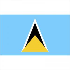 zastava svete lucije zastaveshop