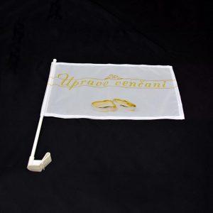 Zastava upravo venčani sa nosačem