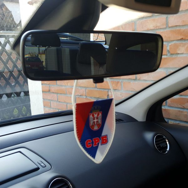 Zastavica Srbije nacionalna SRB za retrovizor.