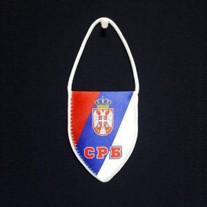 Zastavica Srbije za kola retrovizor.