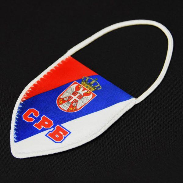 Zastavica Srbije za retrovizor.