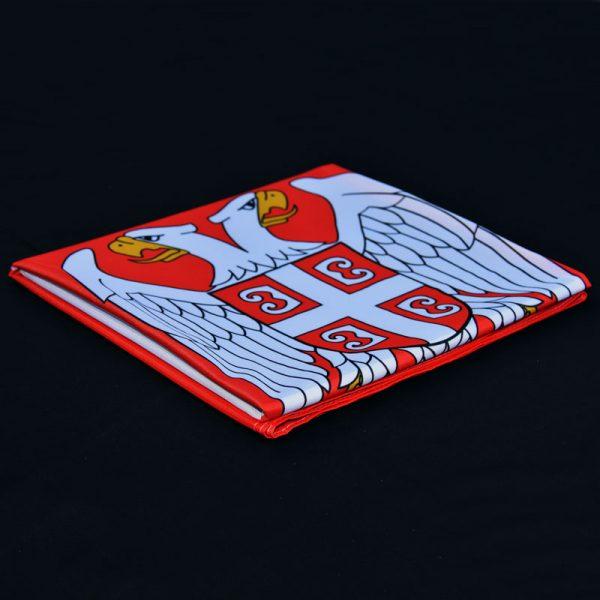 Zastava Srbije savijena poliester grb GMT Company
