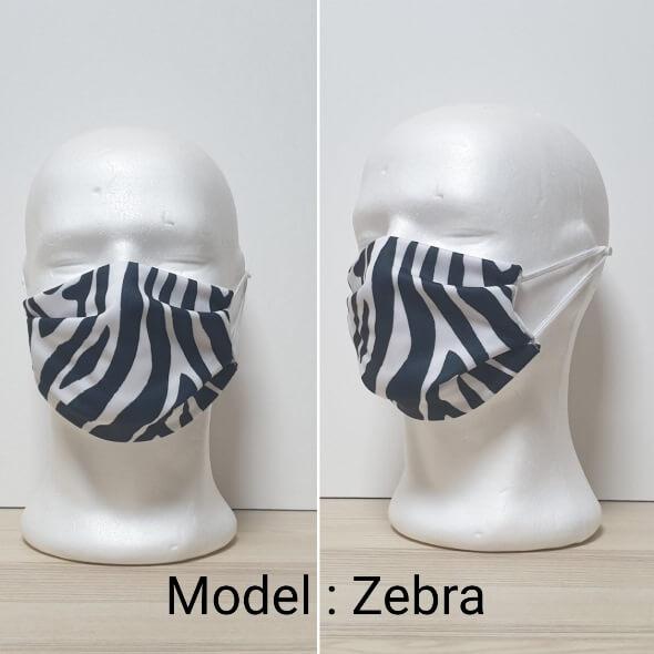 Maska za lice - Fashion print Model Zebra zastaveshop