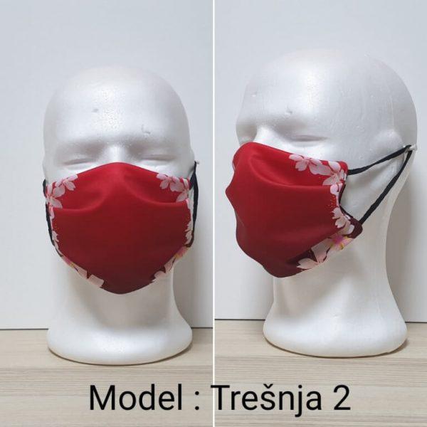 Maska za lice Fashion print Model Tresnja 2 zastaveshop