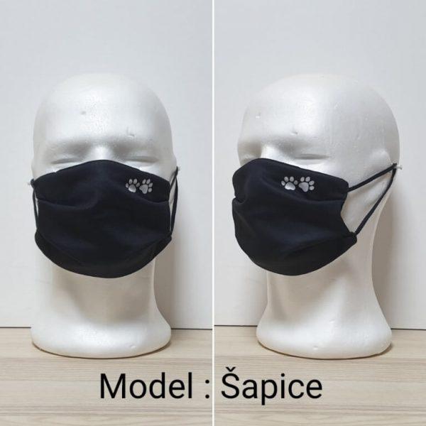 Maska za lice - Print sa ustima Model Šapice zastaveshop