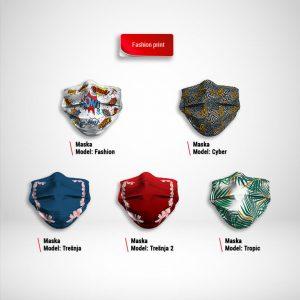 Maska za lice katalog Fashion print zastaveshop