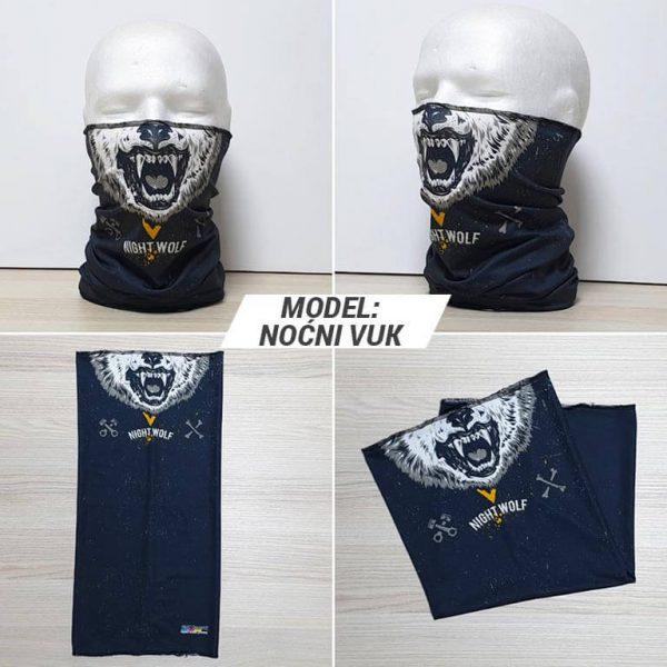 Bandan marama Face print model Nocni vuk zastaveshop GMT Company