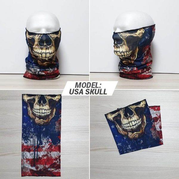 Bandan marama Skull print model USA zastaveshop GMT Company