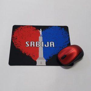 Mousepad Srbija srce 1 zastaveshop GMT Company