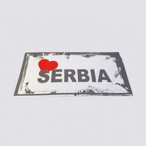 Peškir sa štampom Serbia zastaveshop GMT Company