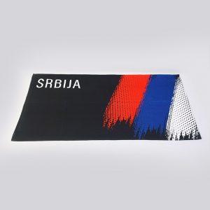Peškir sa štampom trobojka crni zastaveshop GMT Company