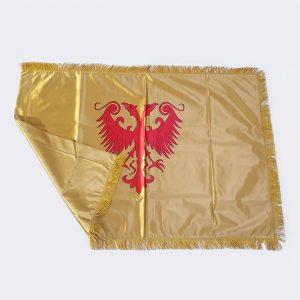 Zastava Nemanjića Dušanovog Carstva saten zlatna 2 zastaveshop GMT Company