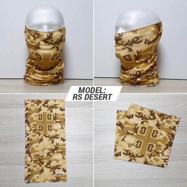 Bandan marama Military print model RS Desert zastaveshop GMT Company