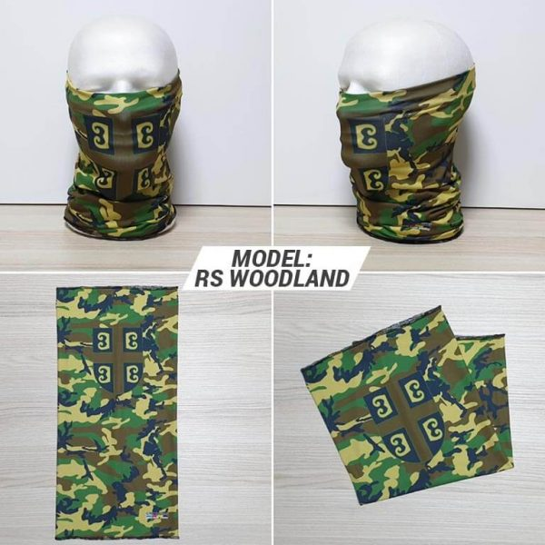 Bandan marama Military print model RS Woodland zastaveshop GMT Company