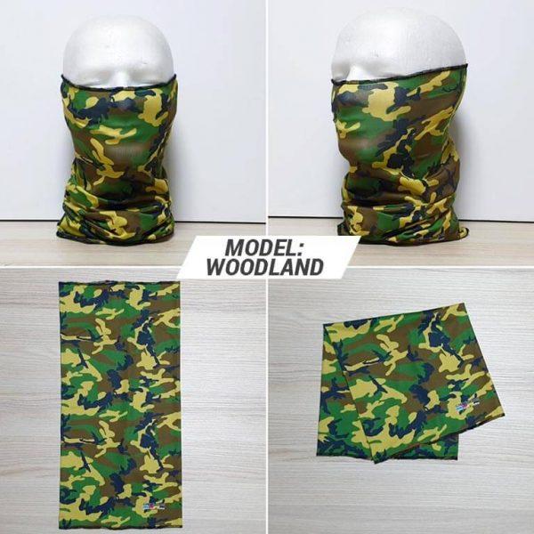 Bandan marama Military print model Woodland zastaveshop GMT Company