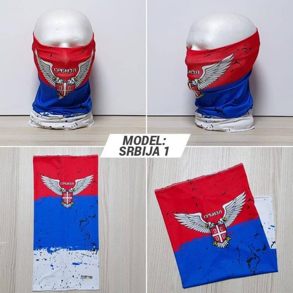 Bandan marama Srbija print model Srbija 1 zastaveshop GMT Company