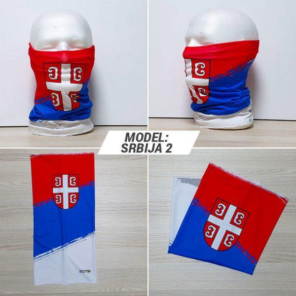 Bandan marama Srbija print model Srbija 2 zastaveshop GMT Company