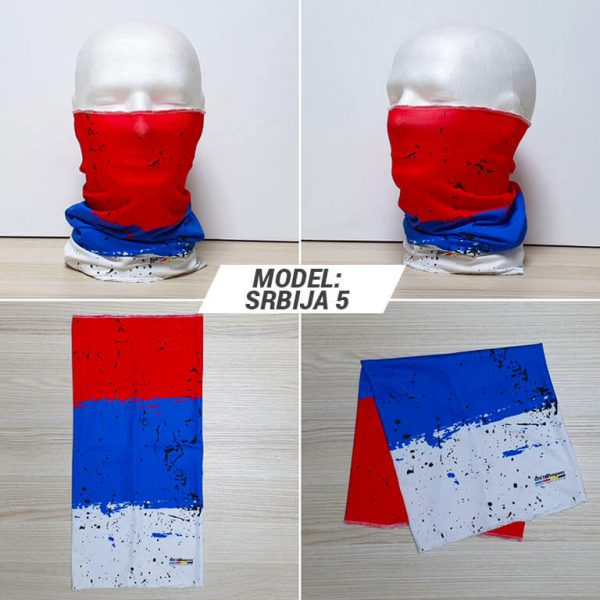 Bandan marama Srbija print model Srbija 5 zastaveshop GMT Company
