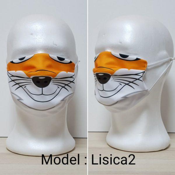 Maska za lice - Dečiji print Model Lisica 2 zastaveshop