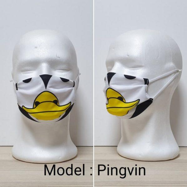 Maska za lice - Dečiji print Model Pingvin zastaveshop