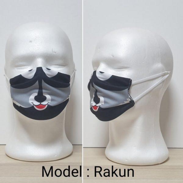 Maska za lice - Dečiji print Model Rakun zastaveshop