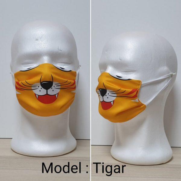 Maska za lice - Dečiji print Model Tigar zastaveshop