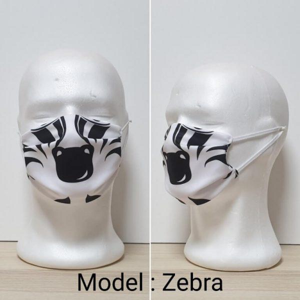 Maska za lice - Dečiji print Model Zebra zastaveshop