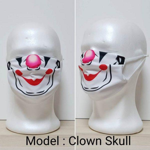 Maska za lice - Skull print model Clown Skull zastaveshop