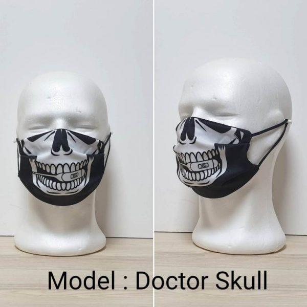 Maska za lice - Skull print model Doctor Skull zastaveshop