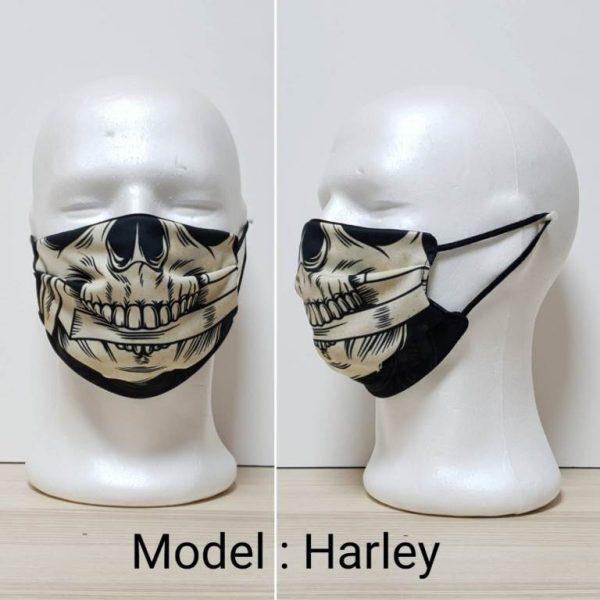 Maska za lice - Skull print model Harley zastaveshop