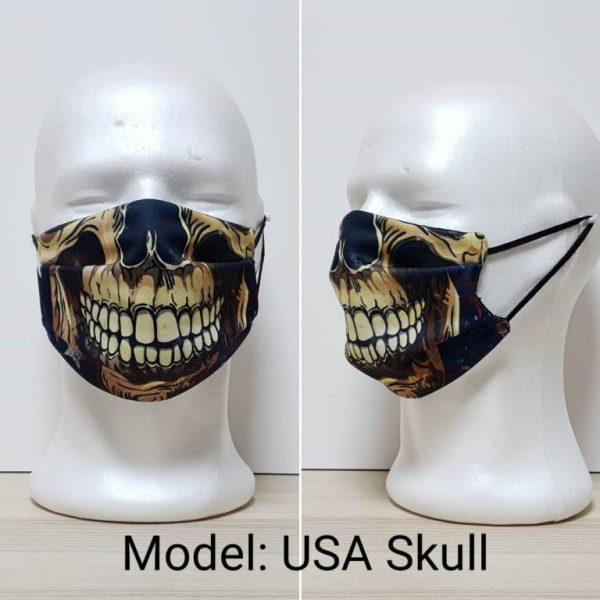 Maska za lice - Skull print model USA Skull zastaveshop
