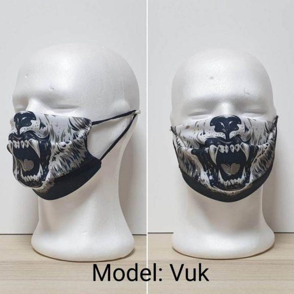 Maska za lice - Skull print model Vuk zastaveshop