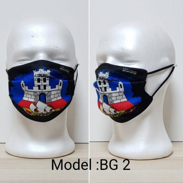 Maska za lice Srbija print Model BG 2 zastaveshop