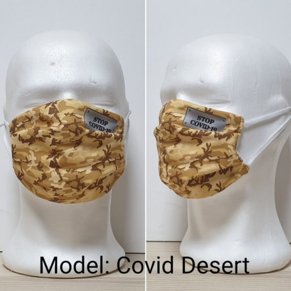 Maska za lice - Vojni print model Covid Desert zastaveshop