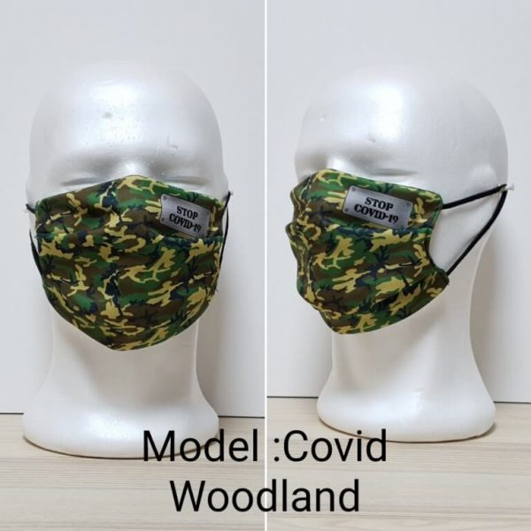 Maska za lice - Vojni print model Covid Woodland zastaveshop GMT