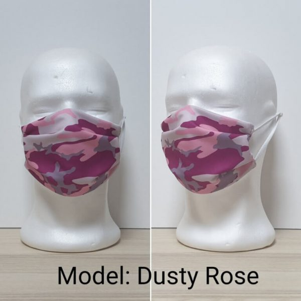 Maska za lice - Vojni print model Dusty Rose zastaveshop