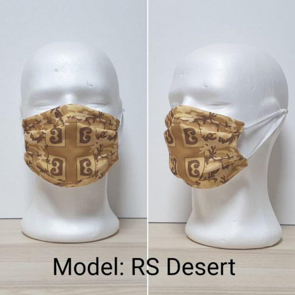 Maska za lice - Vojni print model RS Desert zastaveshop