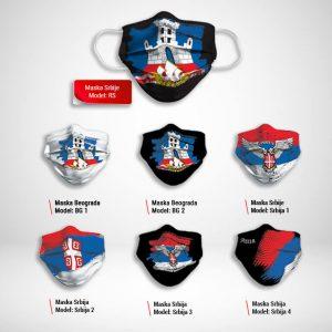 Maska za lice katalog Srbija print zastaveshop